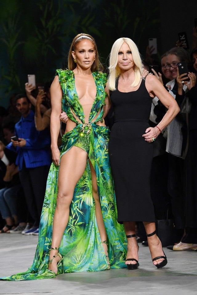 Jennifer Lopez Donatella Versace SS2020 Runway
