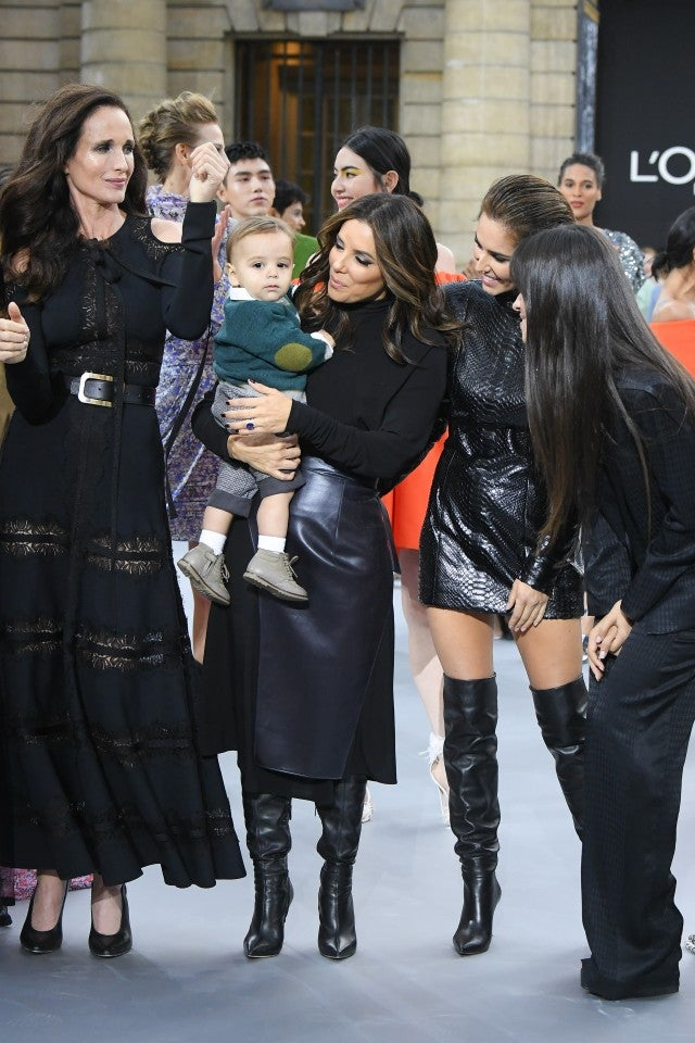Andie MacDowell, Eva Longoria and her son Santiago, Cheryl Cole and Camila Cabello