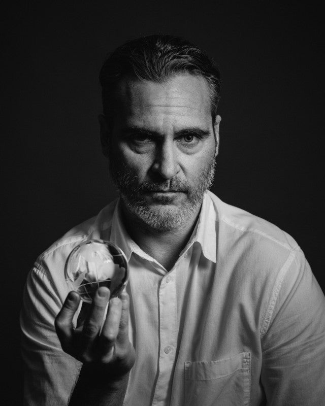 joaquin phoenix with world in our hands campaign