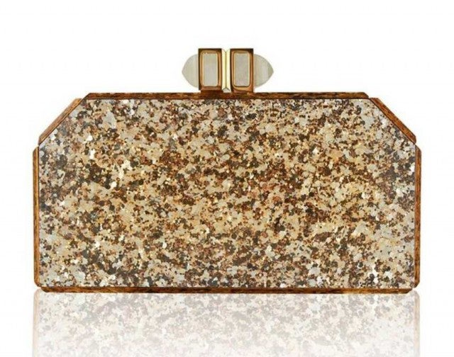 Judith Leiber Couture Paillettes Box Clutch