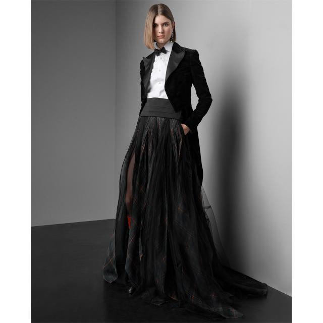 Ralph Lauren Arlington Organza-Tulle Skirt