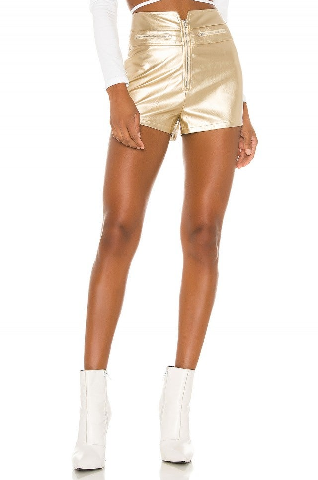 Superdown Teresa Zip Front Short