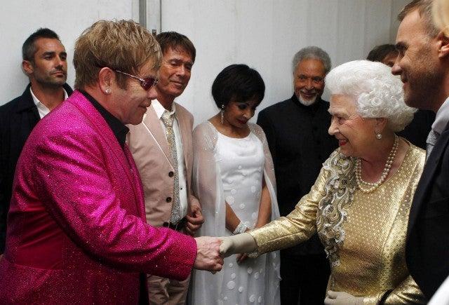 Elton John and Queen Elizabeth