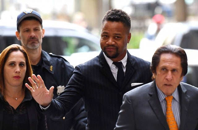 Cuba Gooding Jr. arrives for his trial on his sexual assault case on October 10, 2019, in New York City.