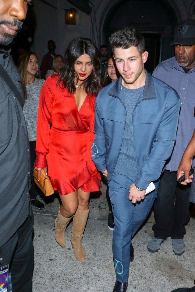 Nick Jonas & Priyanka Chopra Leaving Craig's