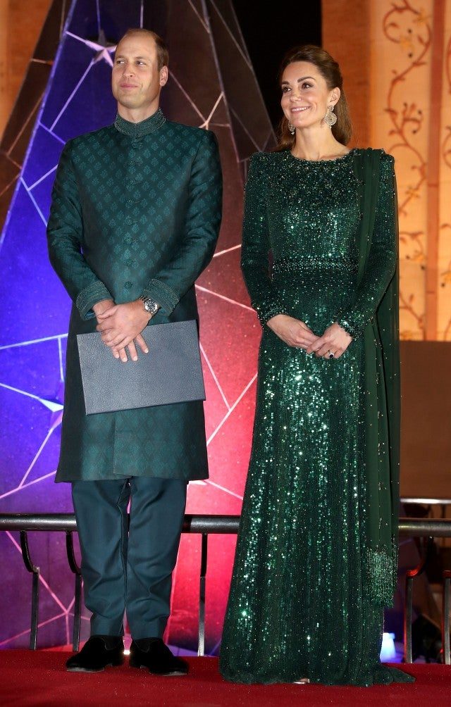 Kate Middleton Goes Glam In Emerald Sequin Gown For