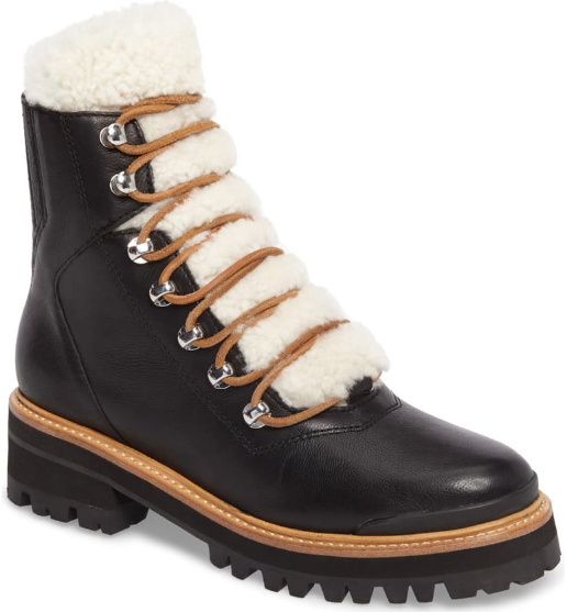 Marc Fisher Izzie Shearling Lace-Up Boot