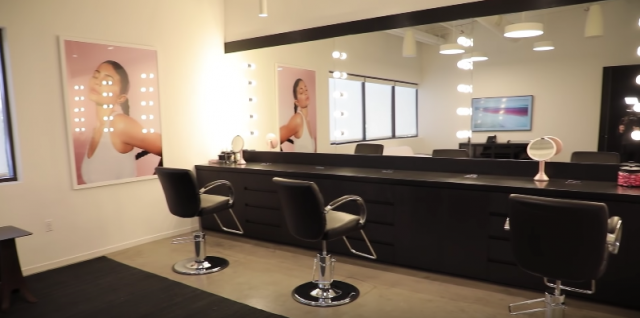 glam room Kylie Cosmetics office