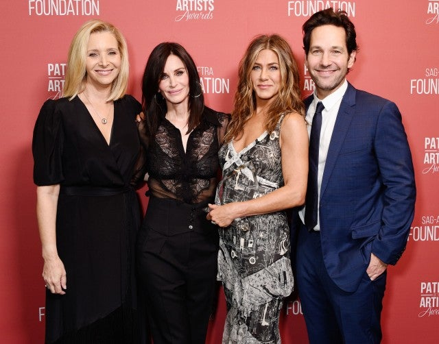 Lisa Kudrow, Courteney Cox, Jennifer Aniston and Paul Rudd