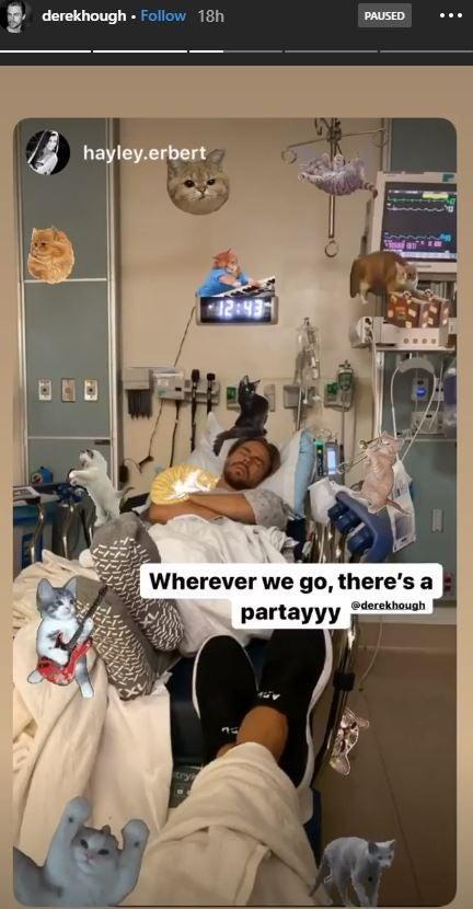 Derek Hough hospital