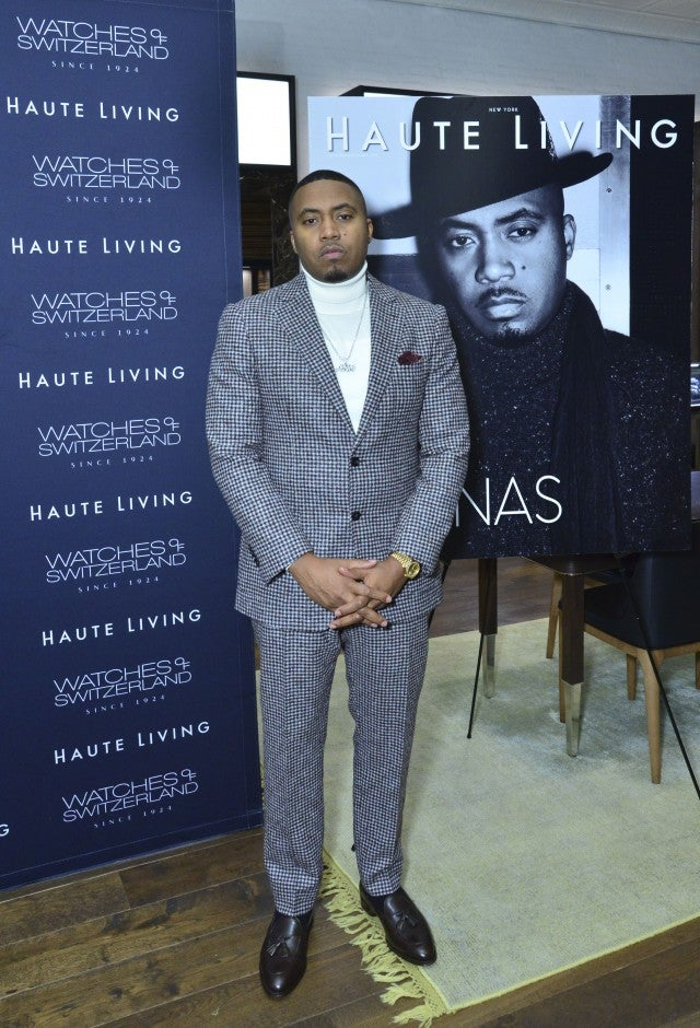 nas at haute living party