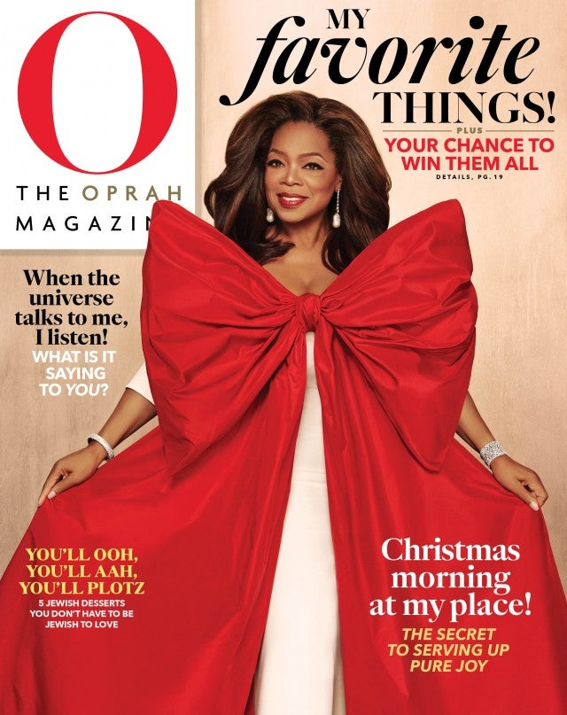 Celebrity Beauty: O, The Oprah Magazine December 2019 cover