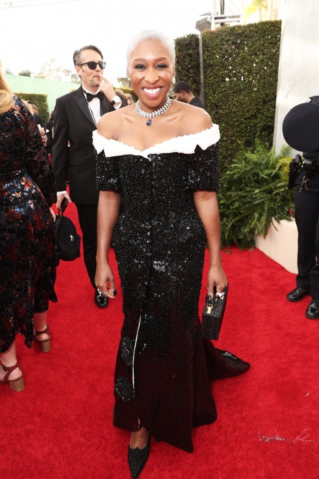 Cynthia Erivo at the 2020 Golden Globes