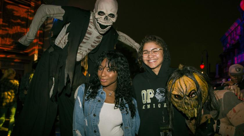 Normani Kordei and Zendaya at Halloween Horror Nights