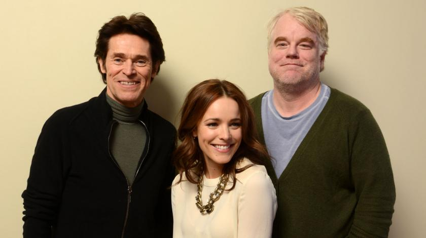 Willem Dafoe, Rachel McAdams, and Philip Seymour Hoffman
