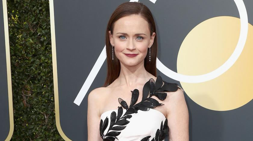 Alexis Bledel at 2018 Golden Globes