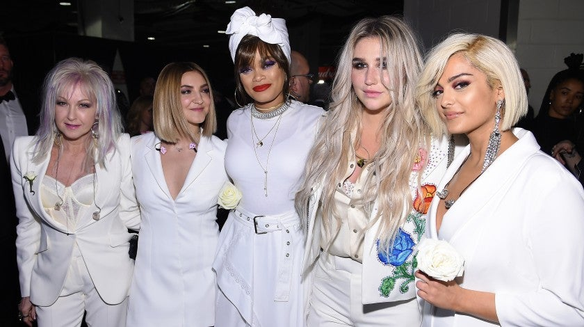 Cyndi Lauper, Julia Michaels, Andra Day, Kesha and Bebe Rexha at 2018 GRAMMYs