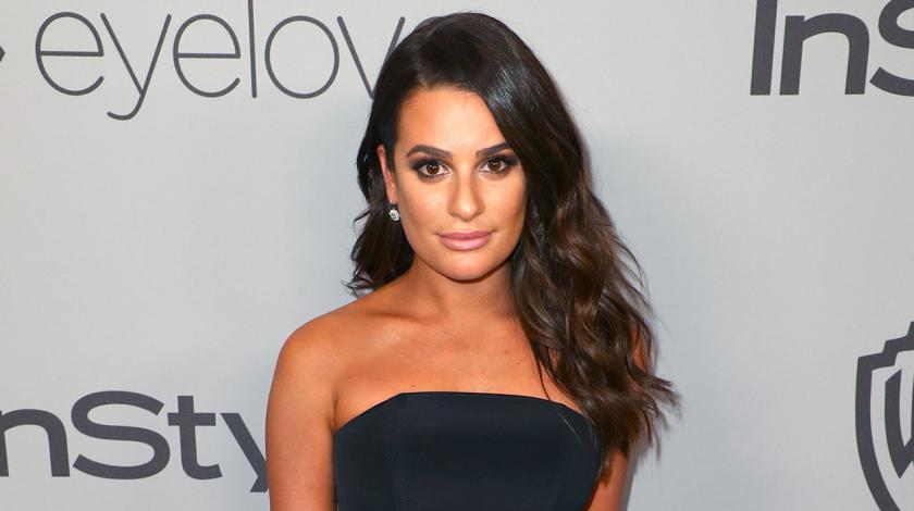 Lea Michele at InStyle party