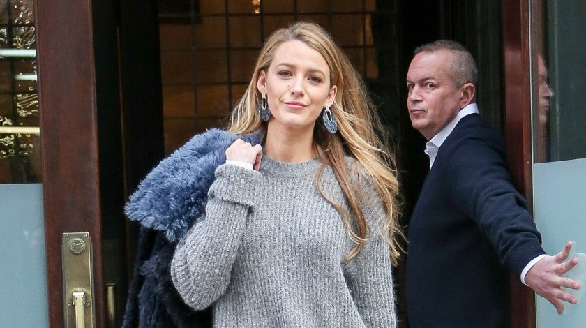 Blake Lively exits her NYC hotel.