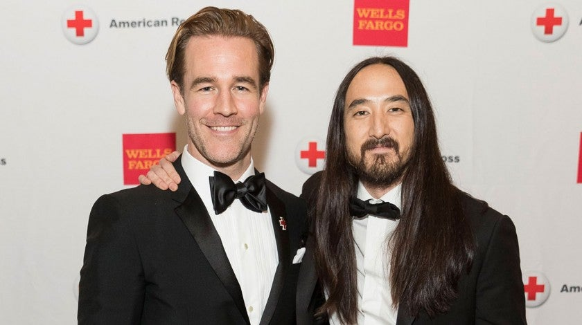 James van der Beek and Steve Aoki