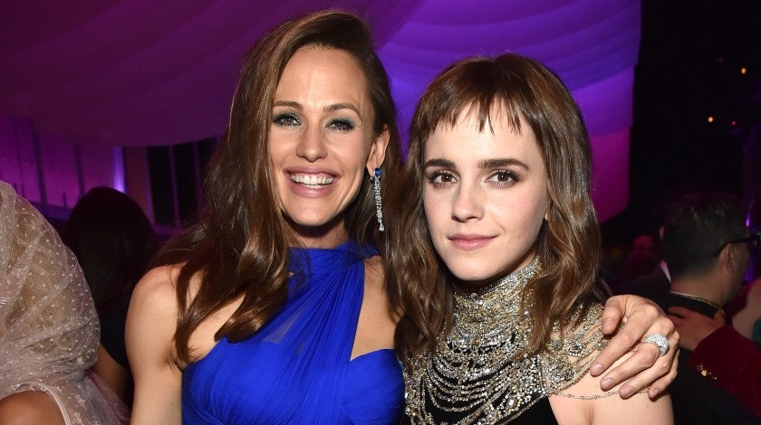 Jennifer Garner and Emma Watson at Vanity Fair party