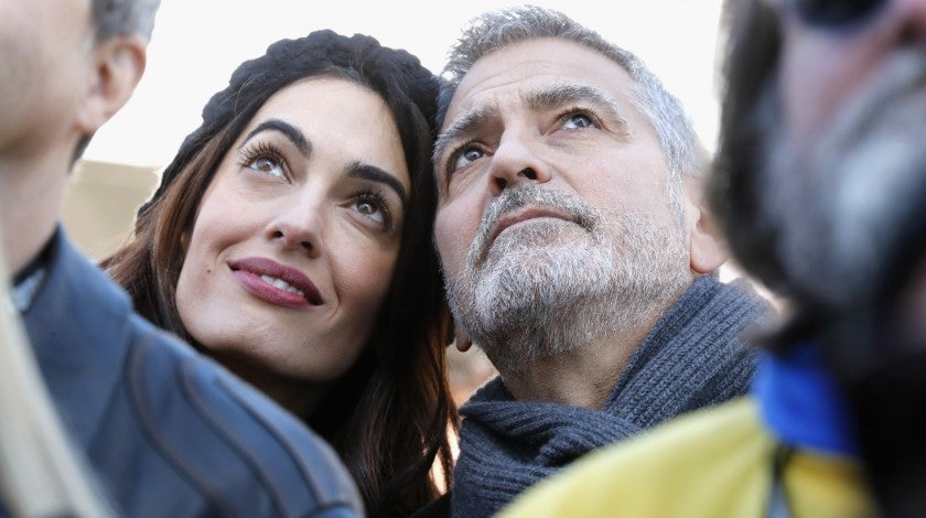 Amal Clooney and George Clooney at March for our lives