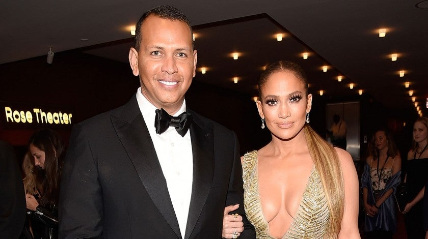 Alex Rodriguez and Jennifer Lopez at Time 100 Gala