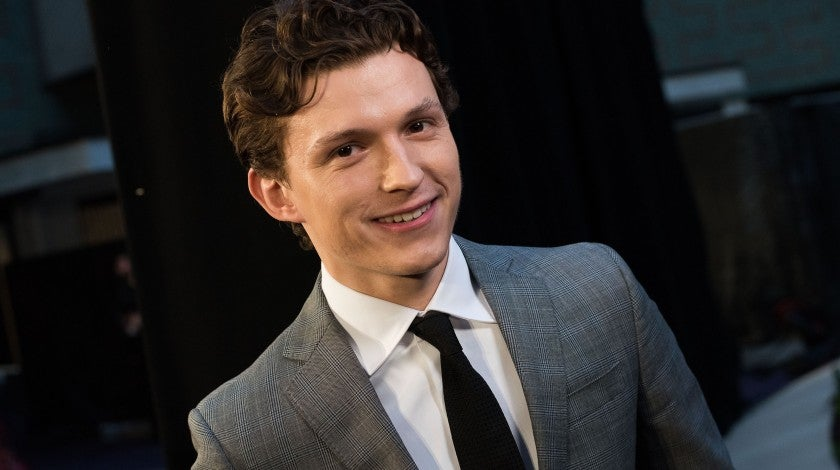 Tom Holland at avengers event in London