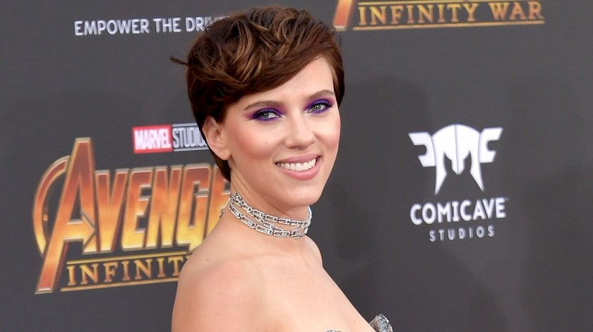 Scarlett Johansson at Disney and Marvel's 'Avengers: Infinity War' premiere