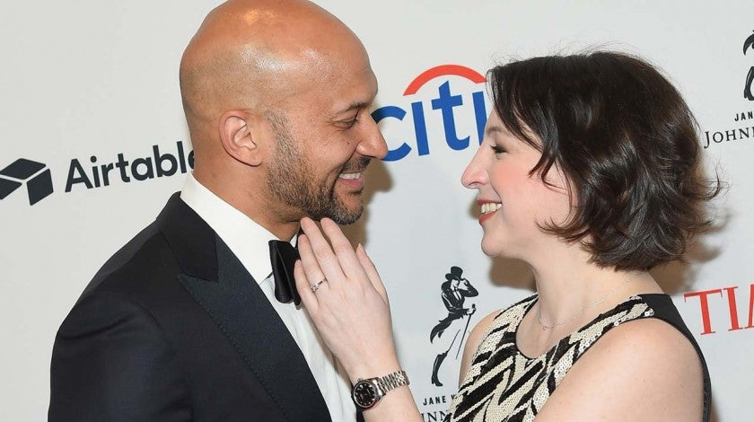 Keegan-Michael Key and girlfriend Elisa Pugliese at the 2018 Time 100 Gala