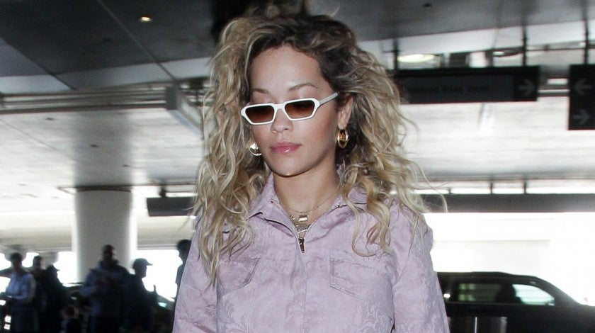Rita Ora in jumpsuit at lax