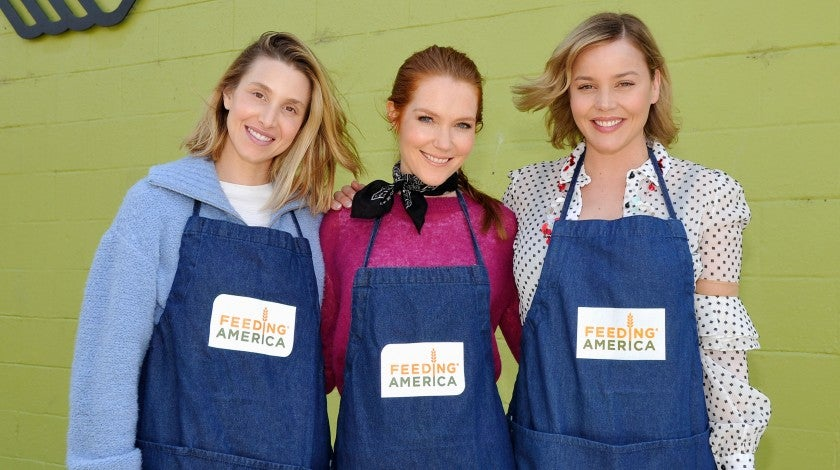 Whitney Port, Darby Stanchfield and Abbie Cornish volunteer at Boys & Girls Club of Santa Monica