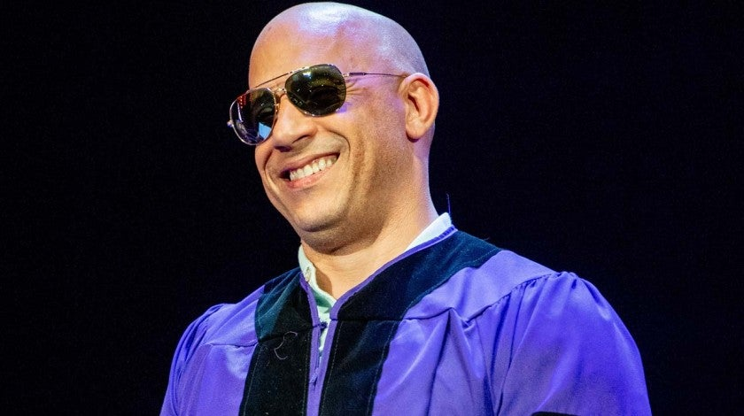 Vin Diesel at Hunter College's 2018 Commencement ceremony in New York on May 30