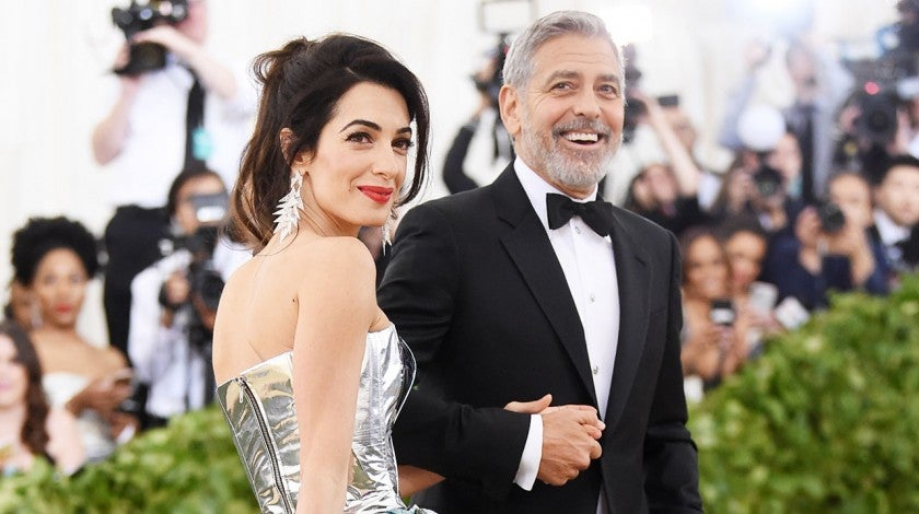 Amal Clooney and George Clooney at 2018 Met Gala
