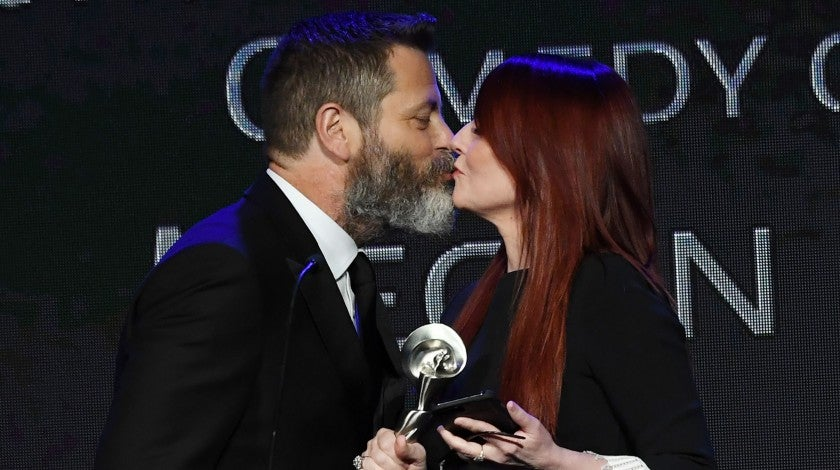 Nick Offerman and Megan Mullally at Gracie Awards