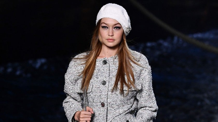 Gigi Hadid on chanel catwalk