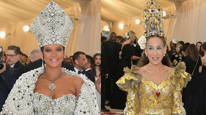 Rihanna and Sarah Jessica Parker at 2018 Met Gala