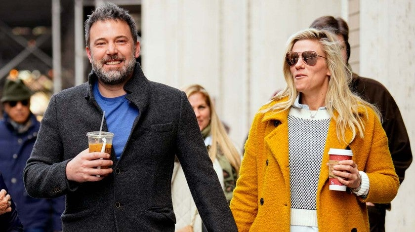 Ben Affleck and girlfriend Lindsay Shookus in New York