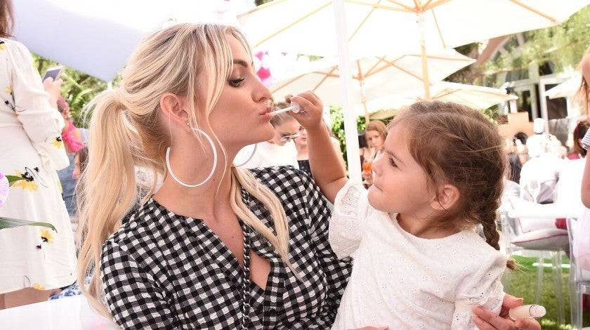 Ashlee Simpson and Jagger at Petite 'n Pretty launch