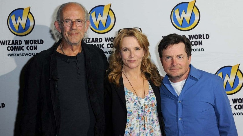 'Back to the Future' stars Christopher Lloyd, Lea Thompson and Michael J. Fox