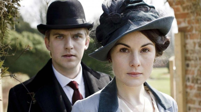 Dan Stevens and Michelle Dockery in 'Downton Abbey'