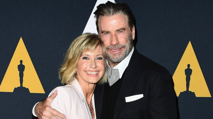 Olivia Newton-John and John Travolta attend grease 40th anniversary screening