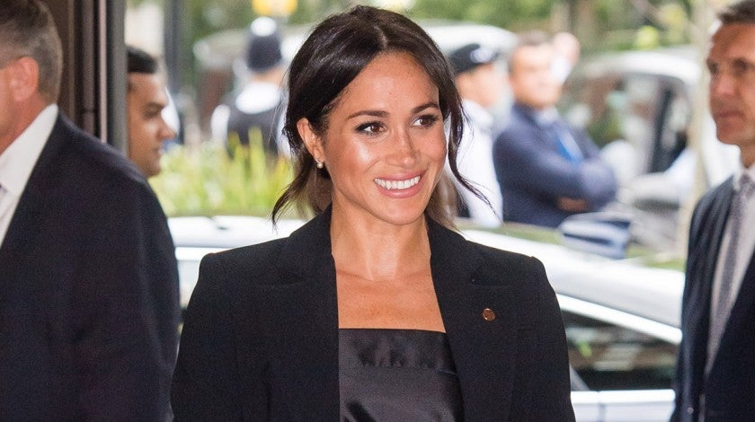 Meghan Markle in black pantsuit for WellChild awards