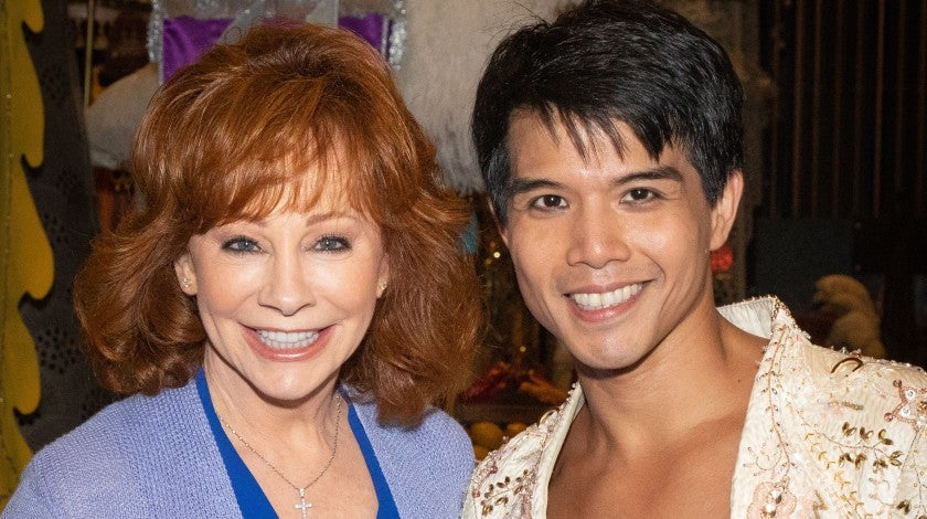 Reba McEntire and Telly Leung at Aladdin