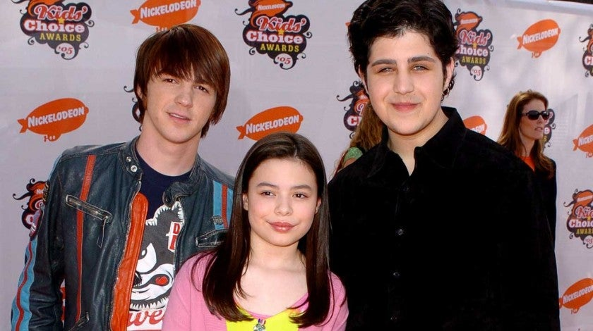 Drake Bell, Miranda Cosgrove and Josh Peck of the Nickelodeon sitcom 'Drake & Josh' in April 2005