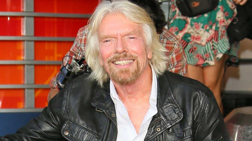 Richard Branson receives a star on the Hollywood Walk of Fame on Oct. 16