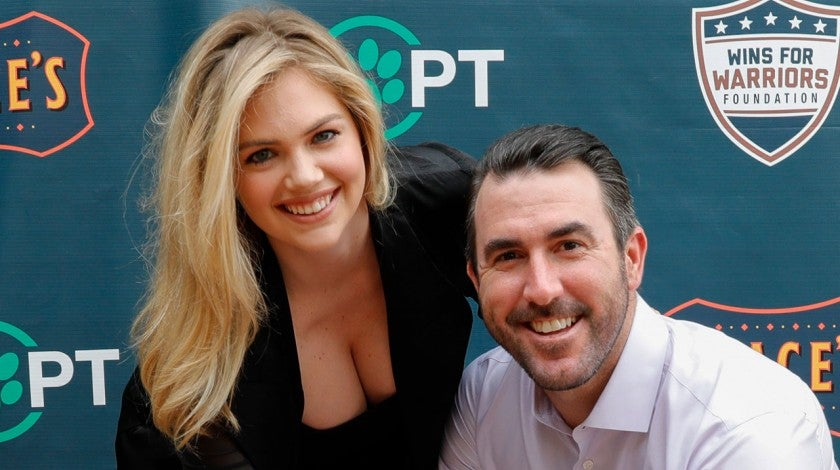 Kate Upton and Justin Verlander in Sept. 2018