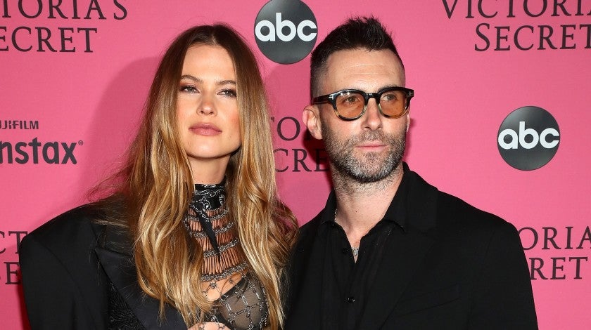 Behati Prinsloo and Adam Levine at Victoria's Secret After Party