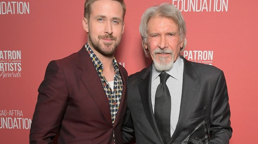 Ryan Gosling and Harrison Ford at sag-aftra foundation gala