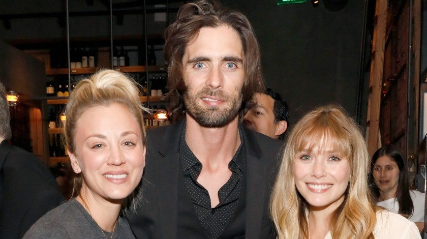 Kaley Cuoco, Tyson Ritter and Elizabeth Olsen